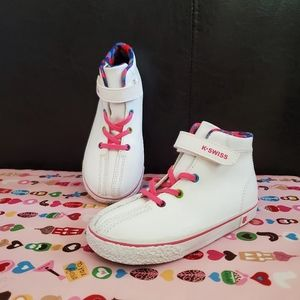 NEW! K-SWISS White High Top Sneakers